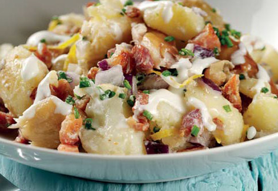 Smoked Mackerel and Pancetta Potato Salad